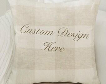 Custom Decorative Pillow