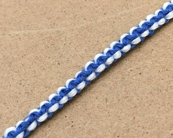 Blue reversible bracelet