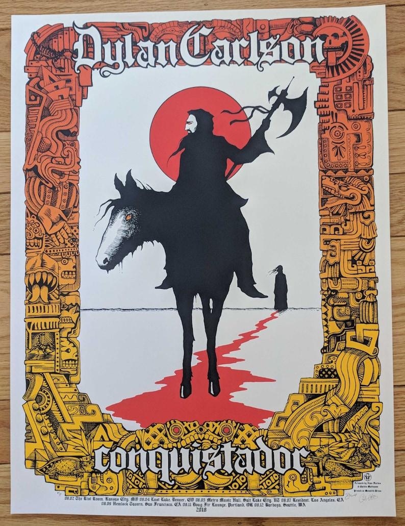 Dylan Carlson: Conquistador poster  Artwork by Caitlin Mattisson and Alan  Forbes