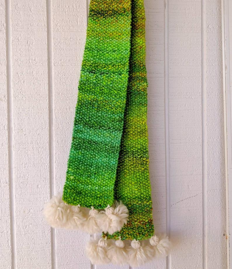 Merino Wool Scarf Hand Spun Knit and Dyed