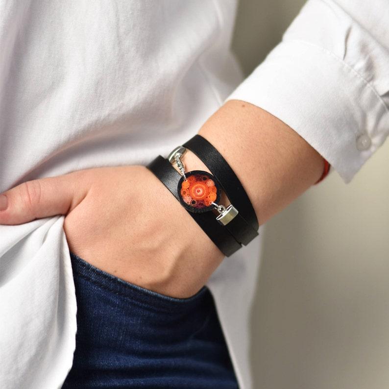 Everyday bracelet leather bracelet wrap bracelet boho bracelet image 0
