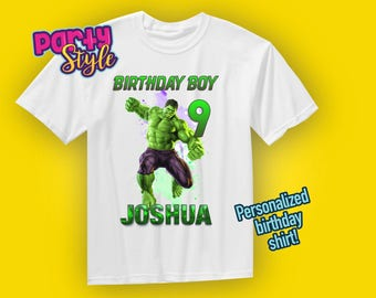 Hulk Shirt, Hulk Birthday Shirt, Avengers Shirt, Avengers Birthday, Incredible Hulk, Superhero, Superhero Birthday, Boys Hulk Shirt, Hulk