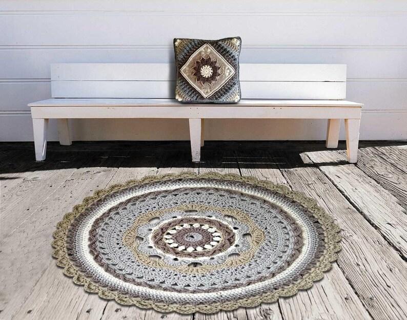 Fußboden Teppich Grau ~ Grau runden teppich häkeln teppich seil teppich große etsy
