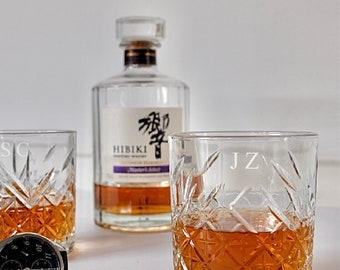 Personalised engraved monogrammed Whiskey Scotch Glasses   Groomsmen Glass   Best man Gift   Bridal party Proposal   Buck's Glass