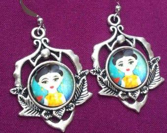 Little Frida Cartoon Earrings