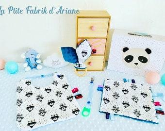 """Coffret naissance garçon / baby Box 4 pièces/ cadeau naissance collection """"Zorro"""""""