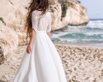 aece4c4c51d Bohemian wedding dress   White elegant wedding gown   Modern wedding  collection   Boheme wedding gown  Rustic wedding dress   Ready to ship
