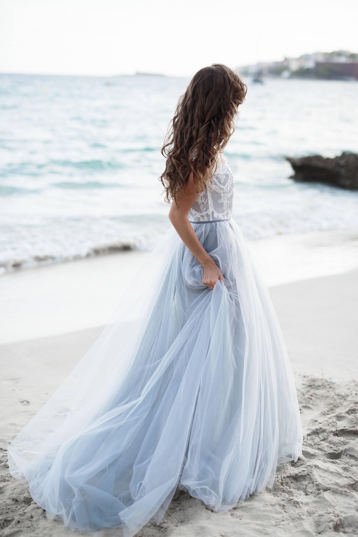 Ready To Ship Wedding Dress Sale Grey And Lavender Wedding Etsy