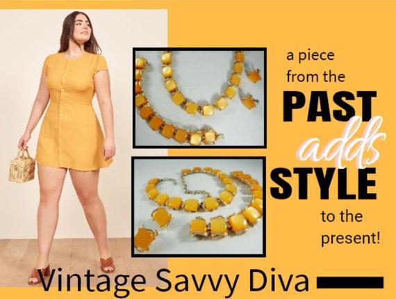 Coro Orange Thermoset Jewelry Set, Vintage Orange