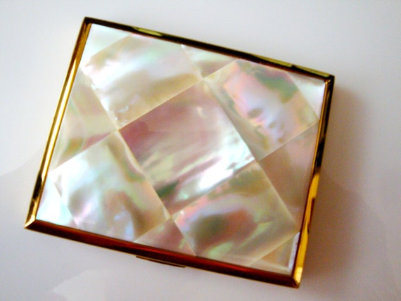 Elgin America Compact, Mother of Pearl gold Mirror