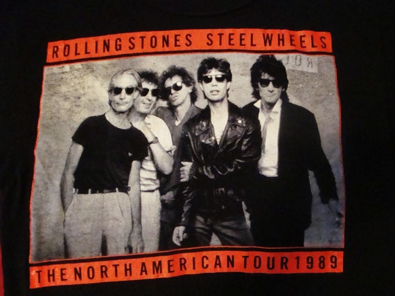 Rolling Stones Concert T Shirt L, Steel Wheels Tou