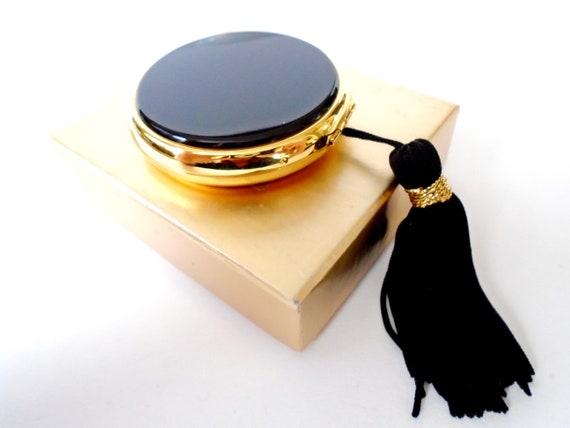 Lancome Black Enamel Compact, Black Tassel Mirror