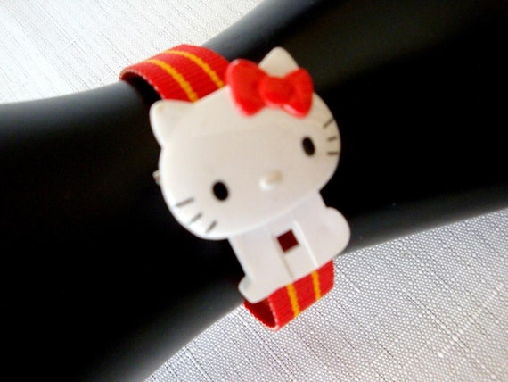 Hello Kitty Red Watch, RARE 80's Sanrio Hello Kitt