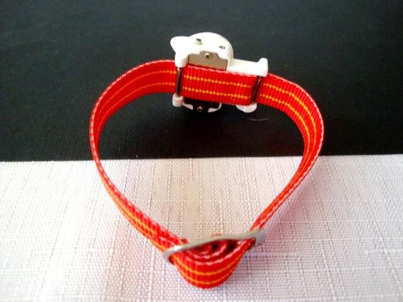 Hello Kitty Red Watch, RARE 80's Sanrio Hello Kit… - image 3