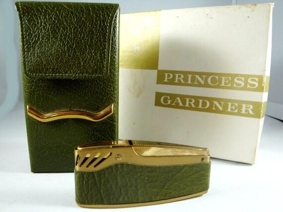 Princess Gardner Cigarette Case and Lighter, 60's