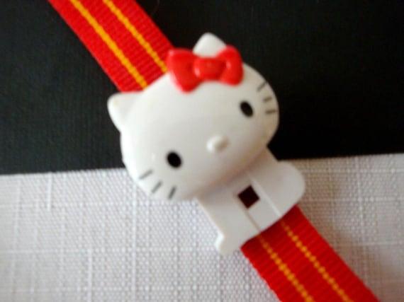 Hello Kitty Red Watch, RARE 80's Sanrio Hello Kit… - image 4