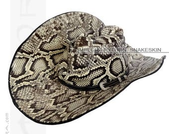 8ad80d6b846 Python Snakeskin Cowboy Hat for Home Decor by Implora