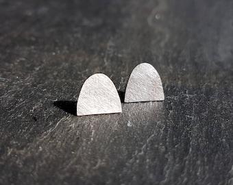 Lichen silver stud earrings