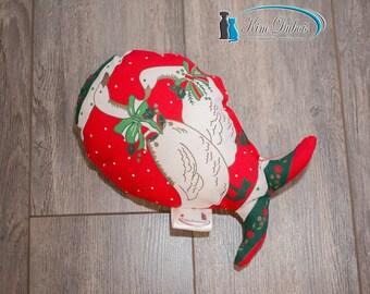 Fish shaped dog toy