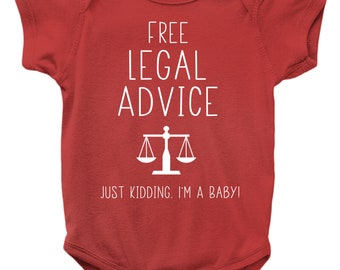 Future Lawyer Onesie Baby Clothing Shower Gift Geek Funny Cute Gift Law Genius