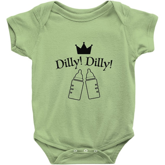 Drinking with Daddy AW Fashions Dilly Dilly Cute One-Piece Infant Baby Bodysuit