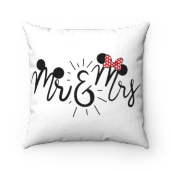 Wedding Gift Mickey and Minnie Pillow His and Hers Gift and Mrs Anniversary Gift Gift for Couple Mr Disney Pillow and Pillow Case