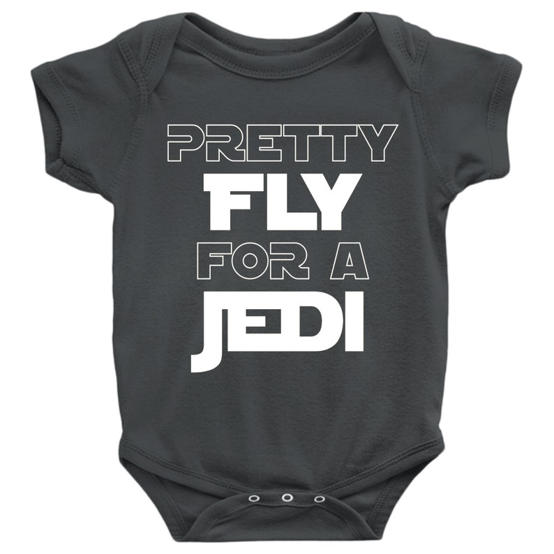 025cb5e7f Pretty Fly For A Jedi onesie Star Wars Baby Gift Funny Baby | Etsy