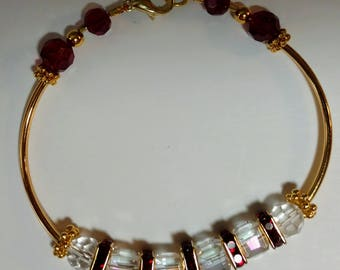 Beautiful Crystal Cube and Squaredelle Bracelet