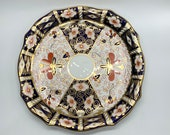 Antique Royal Crown Derby Pastry Plate - Cake Plate - Imari Pattern 2451 - Date 1910