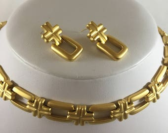 """Butler 24"""" Necklace and Pierced Earrings Set"""