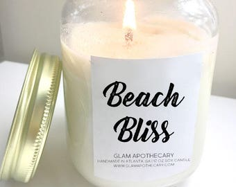 Beach Bliss Soy Wax Candle | All Natural Soy Wax Candle & Wax Melts