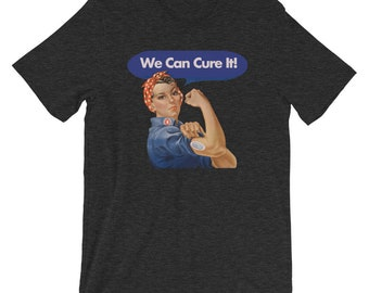 Dia-Be-Tees We can CURE it Rosie T1D Short-Sleeve Unisex T-Shirt