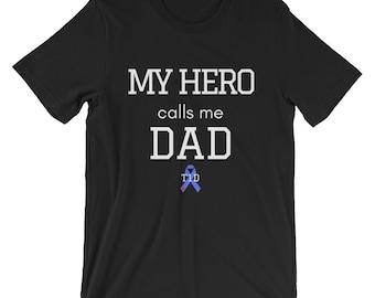 Dia-Be-Tees My Hero calls me Dad Short-Sleeve Unisex T-Shirt