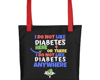 Dia-Be-Tees Seuss Diabetes T1D Tote bag