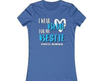 Dia-Be-Tees I wear Blue for my Bestie Women's Favorite Tee