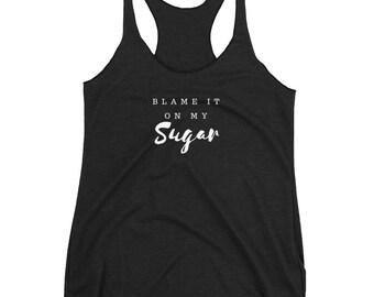 Dia-Be-Tees Blame it on my Sugar Women's Racerback Tank