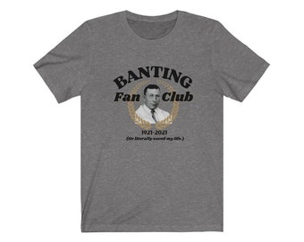 Dia-Be-Tees Saved my life  Banting Fan Club 2021 Unisex Jersey Short Sleeve Tee