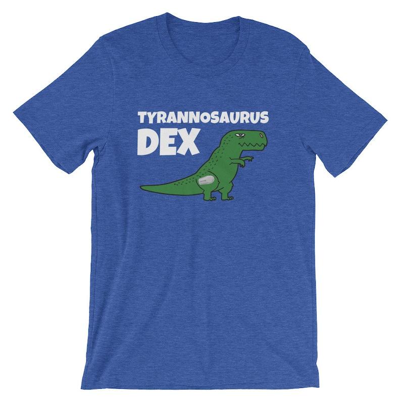 Dia-Be-Tees Tyrannosaurus Dex T-Rex Dexcom Diabetes Short image 0