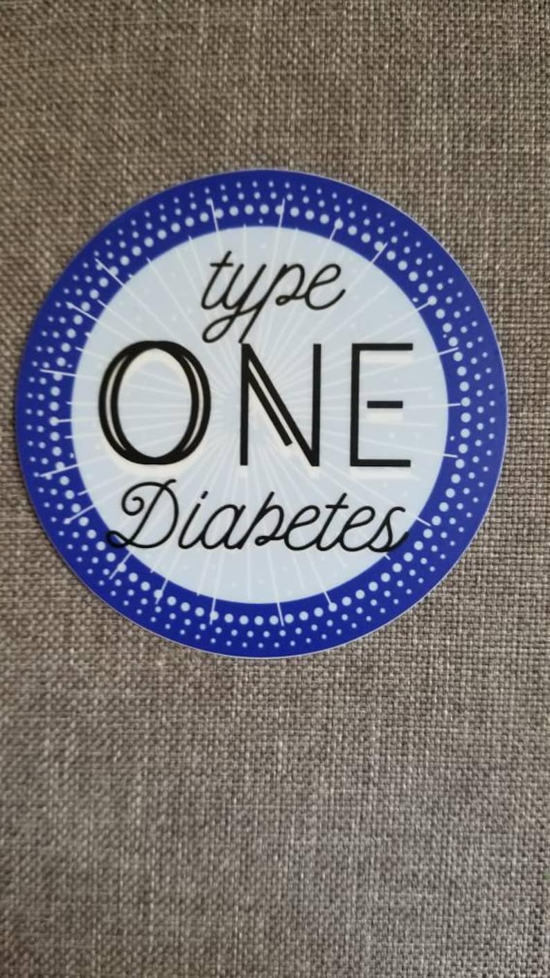 Dia-Be-Tees Diabetes Awareness T1D Sticker image 0