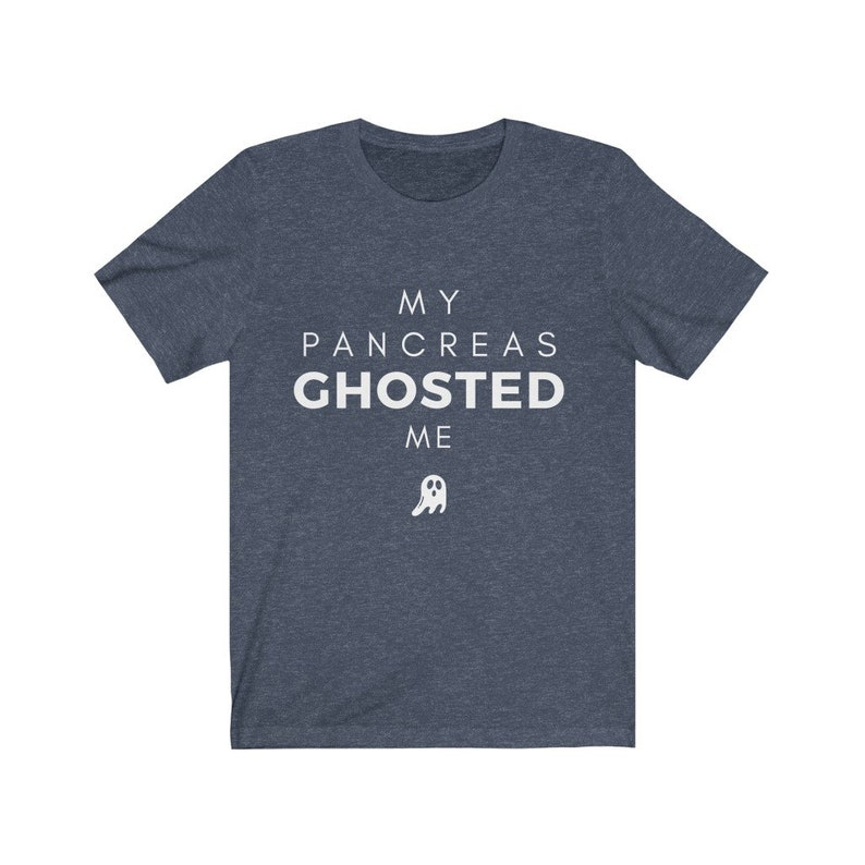 Dia-Be-Tees Pancreas Ghosted Me Diabetes T1D Unisex Jersey image 0
