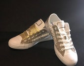 Classic Bling Converse, Monochrome Converse, Bling Shoes, Custom Bling Shoes