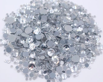 Parts & Accessories Clear White Ss16 Point Back Rhinestones Gems Glass Chatons Strass Nail Art Superior Materials