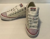 Pearl Converse All Star, Low Top, Classic Style, Iridescent Pearl Embellishments