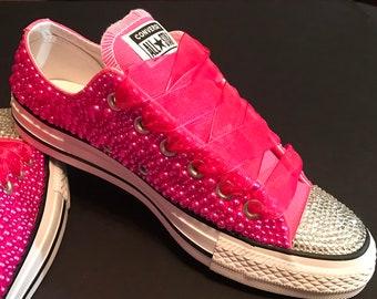 d6e2de07efd1 New   Pinkalicious Bling Converse