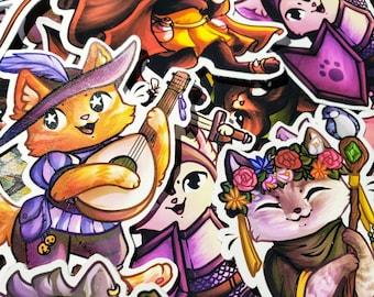 Kitty Quest - RPG Cat Themed Sticker Set