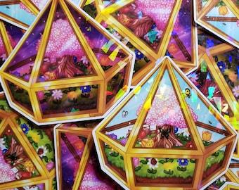 Spring Terrarium - Animal Crossing Inspired Sticker Set