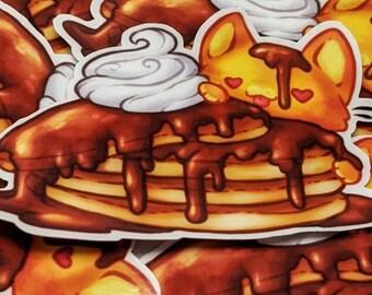 Pancake Cat - Vinyl Sticker