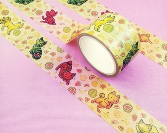 Feline Fruity - Stationary Washi Tape