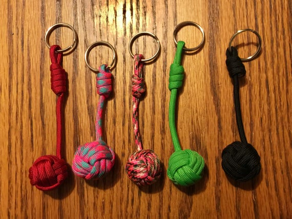 Monkey Fist Keychainnot To Be Used For Self Defense Etsy