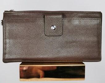 Personalize Leather Women ladies Wallet Purse Card holder Button Clutch strip Bag
